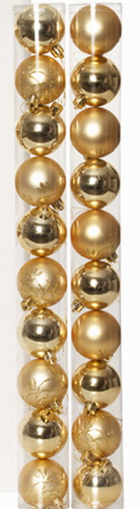 Assorted Christmas Balls - Gold x 20
