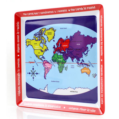 Map of the world Melamine Plate