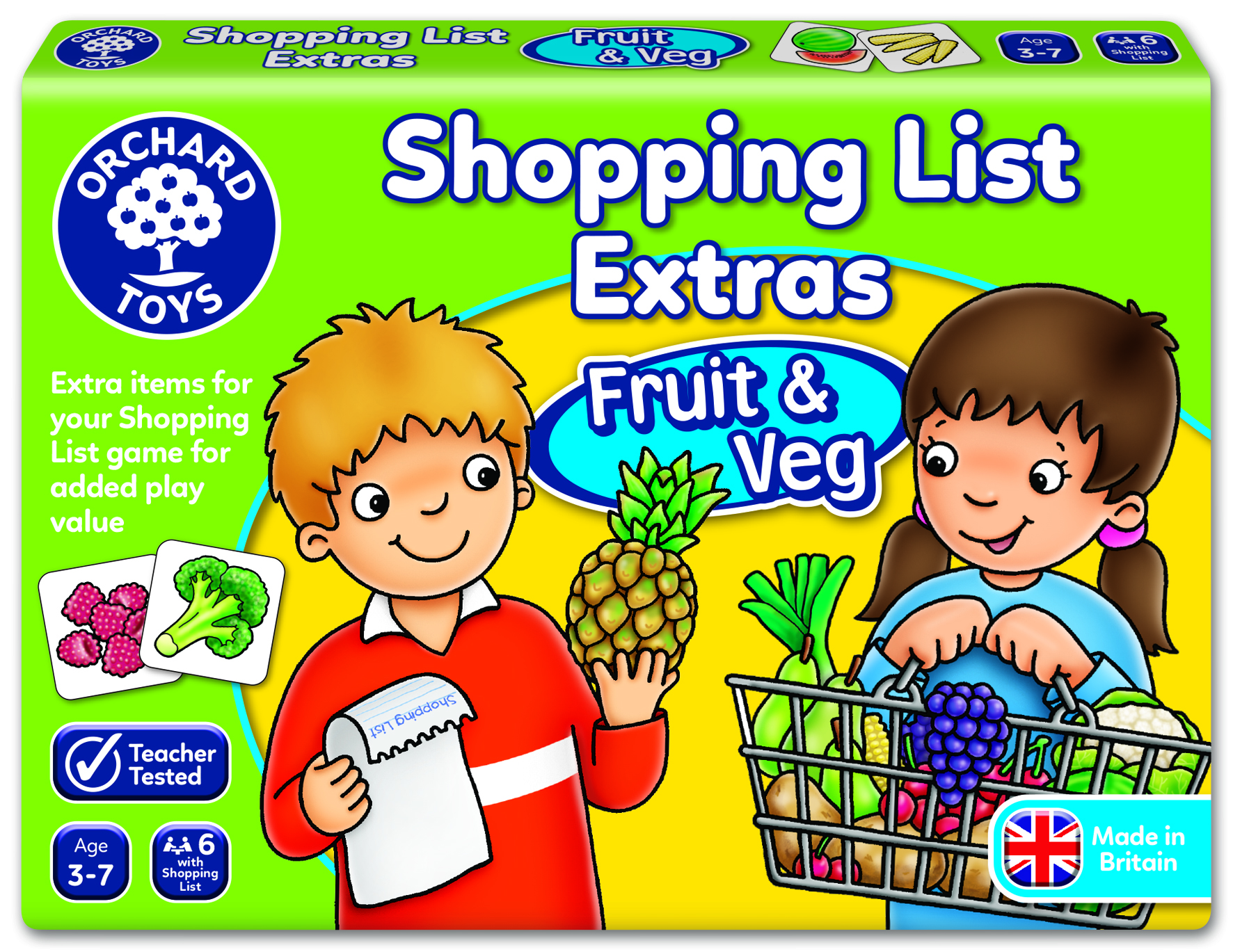 Shopping List Extras - Fruit & Veg by Orchard Toys 3 ~ 7