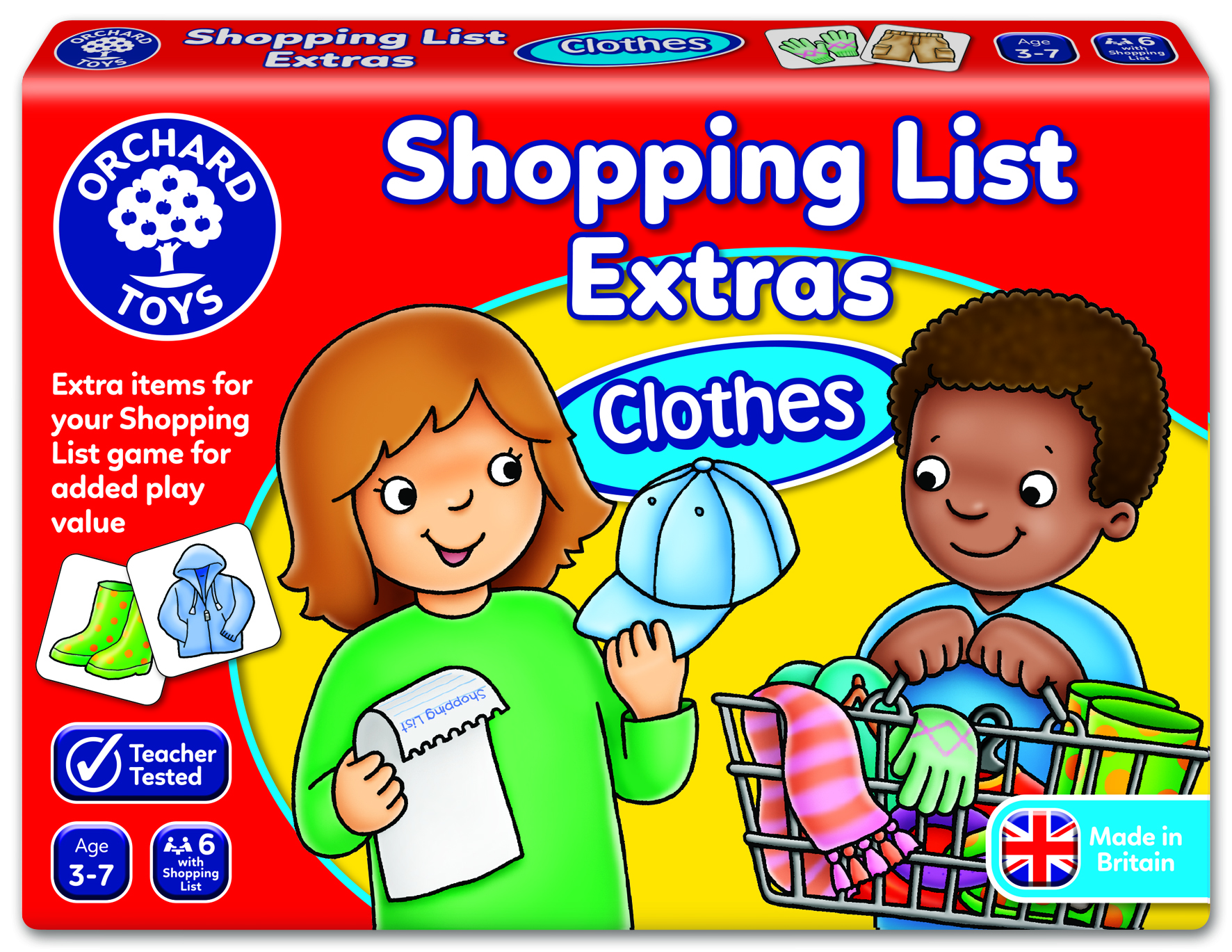 Shopping List Extras - Clothes by Orchard Toys 3 ~ 7