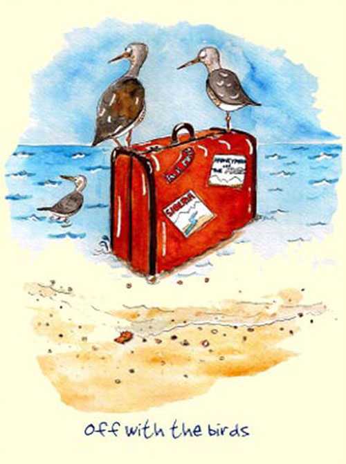 Australian Greeting Card ~ Off with the Birds