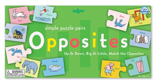Opposites Puzzle Pairs by eeboo