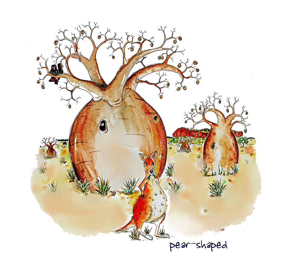 Australian Greeting Card ~ Pear Shaped