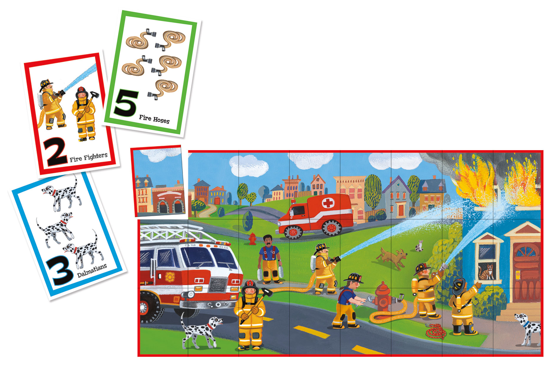 Match Up Game & Puzzle, Learn to count  Fire Rescue by Peaceable Kingdom