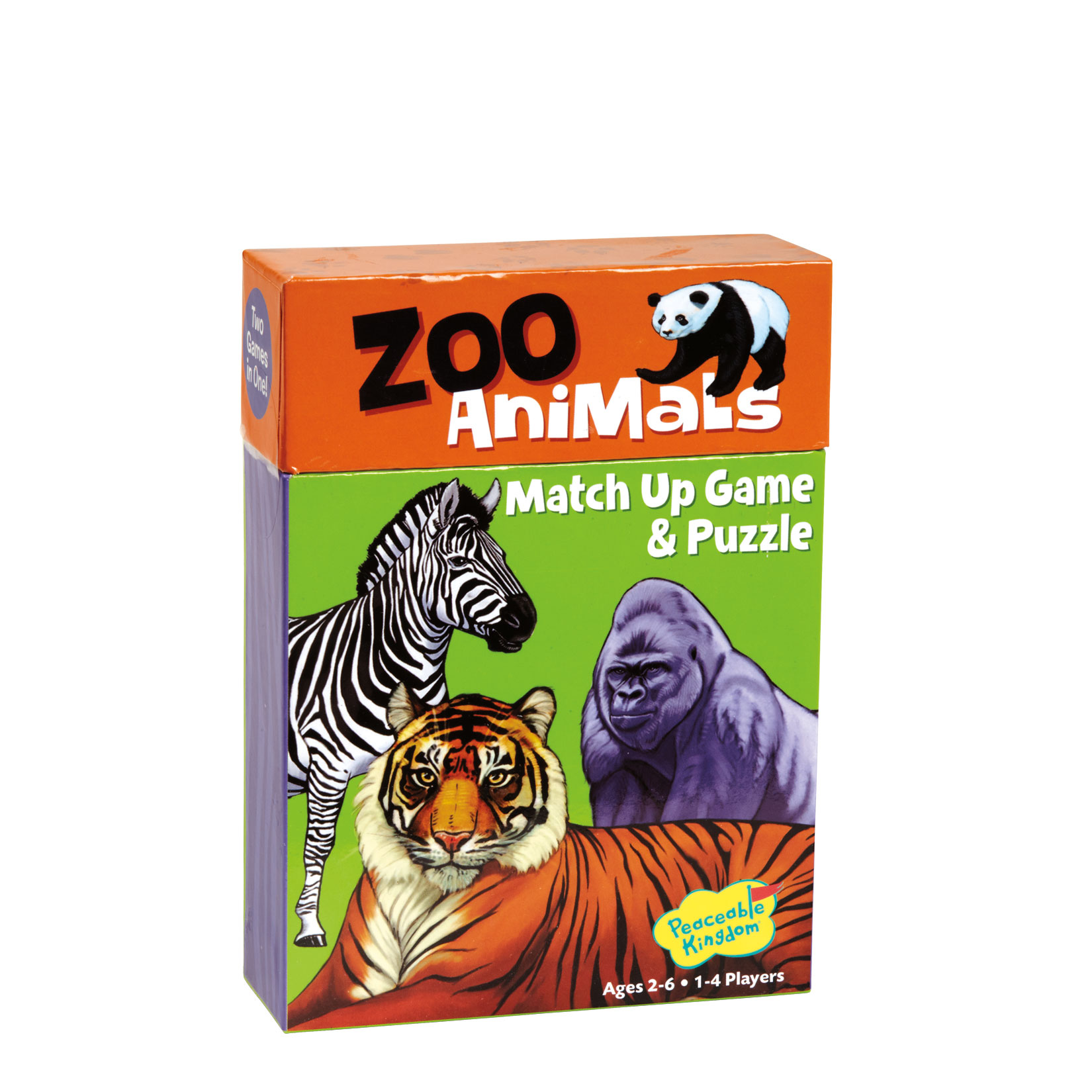 Match Up Game & Puzzle, Learn to count -- Zoo Animals by Peaceable Kingdom