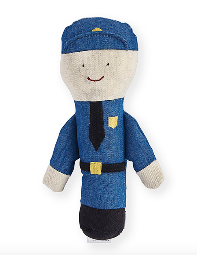 Patty Policeman Baby Rattle by NANA HUCHY