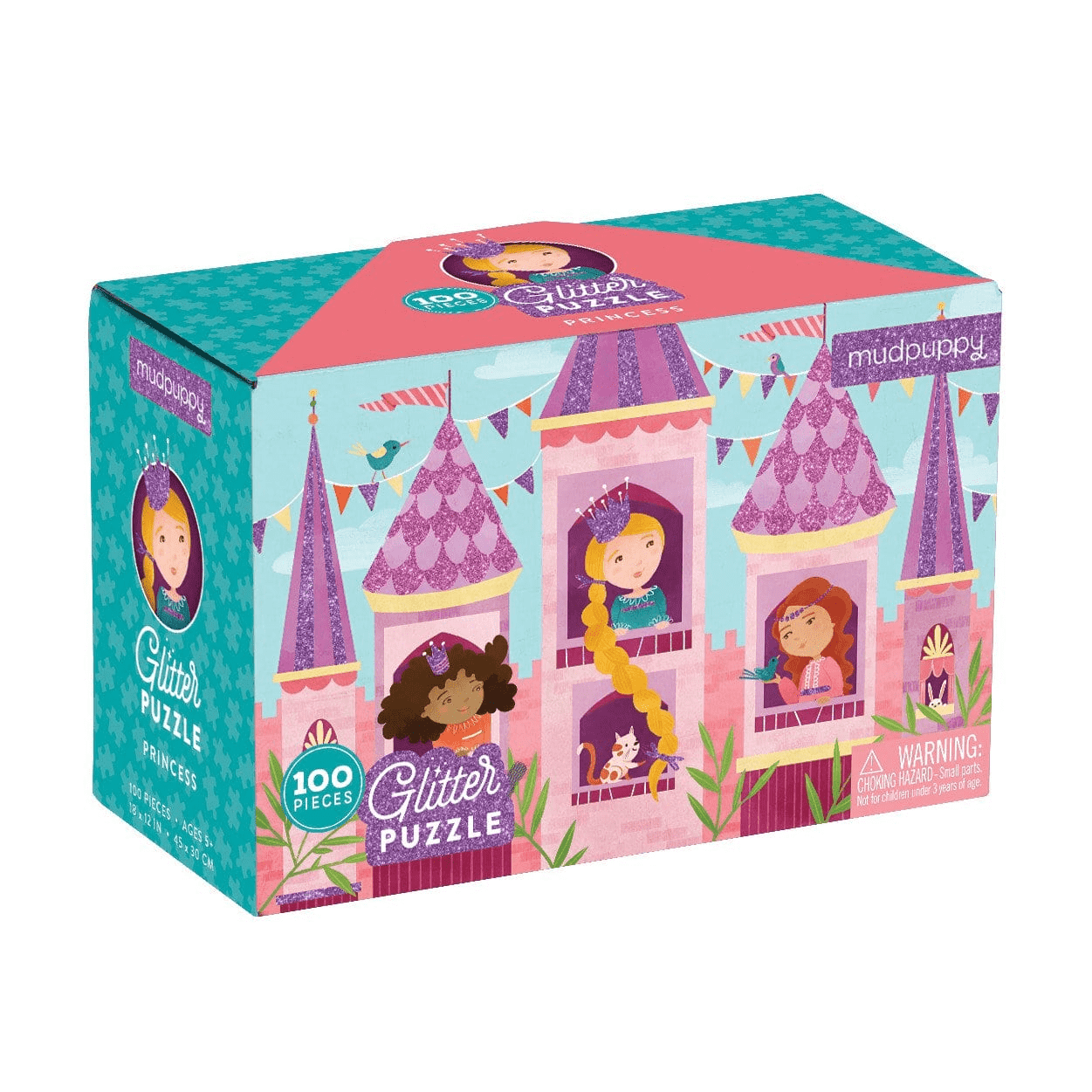 Glitter Princess Puzzle by Mudpuppy ~ 100 pieces
