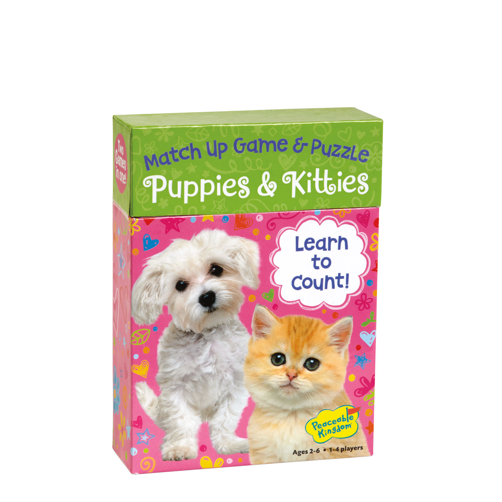 Match Up Game & Puzzle, Learn to count  Puppies & Kitties by Peaceable Kingdom