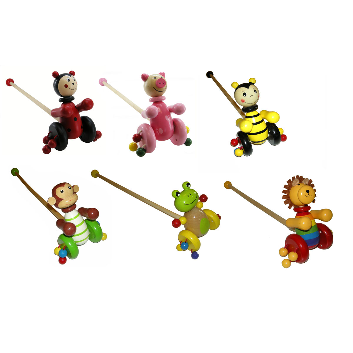 Push-A-Long Ladybird  by Kaper Kidz