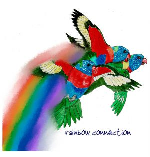 Australian Greeting Card ~ Rainbow connection