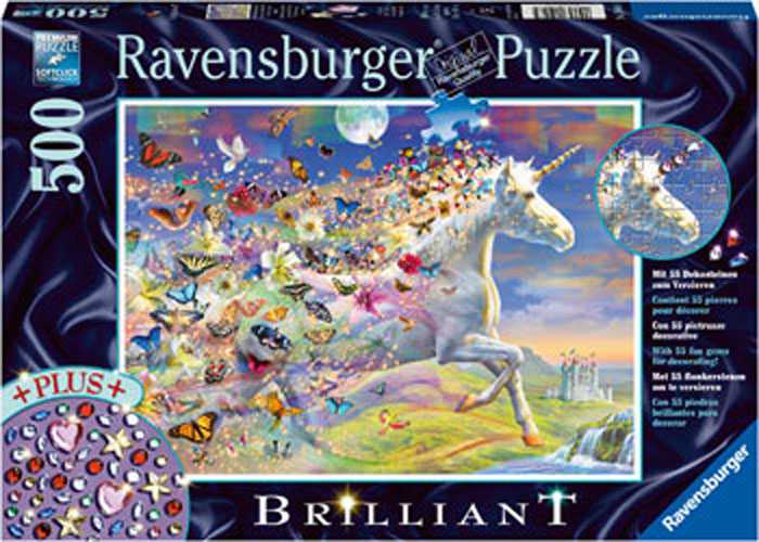 Ravensburger -  Unicorn and Butterflies Jigsaw Puzzle 500pc