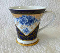 Regal Blue & Gold Mug set x 2