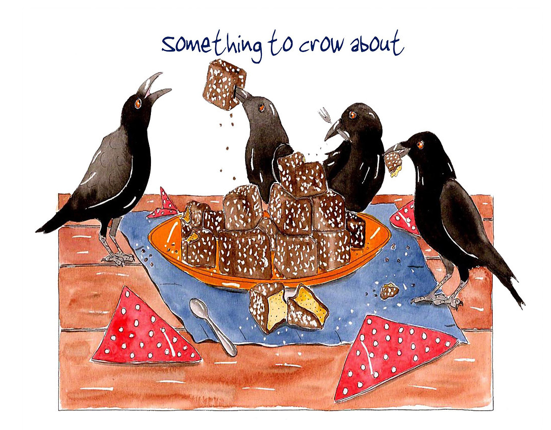 Australian Greeting Card ~ Something to crow about