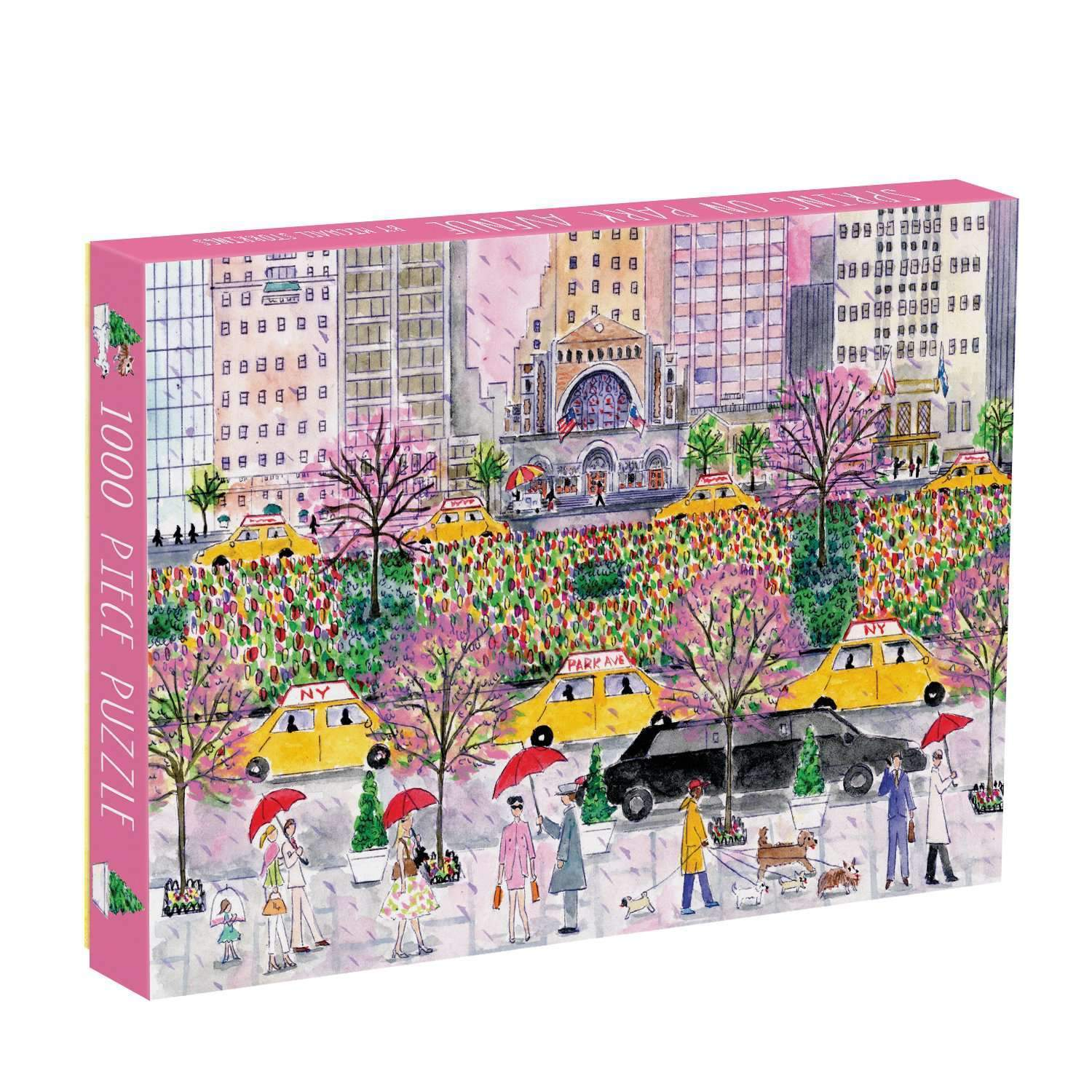 Michael Storrings Spring on Park Avenue 1000 Piece Puzzle by Galison