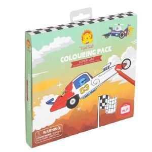Colouring Pack with a Supercars Theme by Tiger Tribe