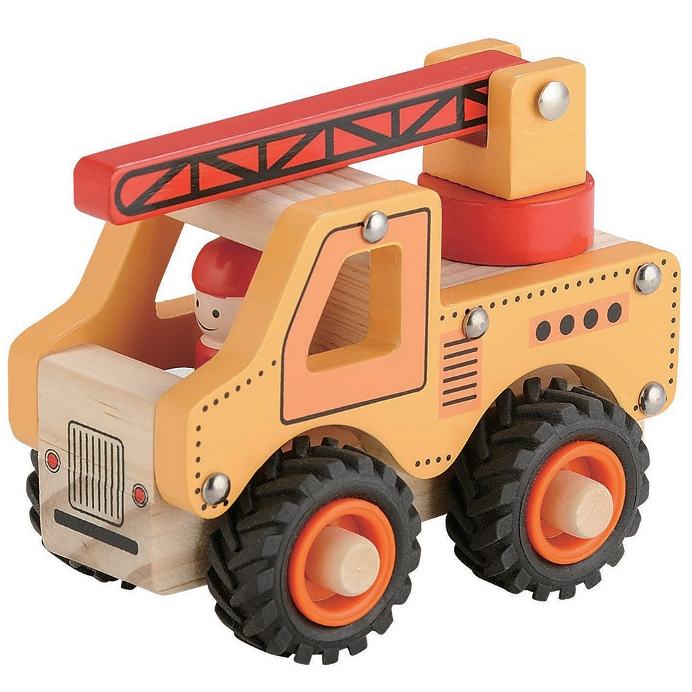 Wooden Truck ~ Crane Truck by Toyslink