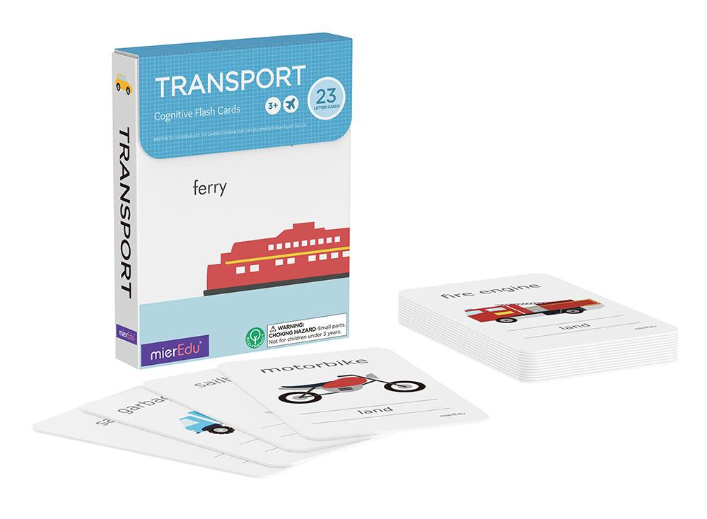 Cognitive Flash Cards - Transport by mierEdu