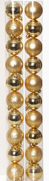 20 ASSORTED GOLD CHRISTMAS BALLS