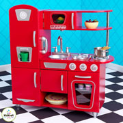 Wooden Retro Red Vintage Kitchen by Kidkraft