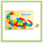 Wooden dinosaur raised puzzle
