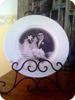 WEDDING KEEPSAKE ~~ Wedding,Anniversary,Engagement, Special Birthday or Occasion, Memorial ~~ Plate