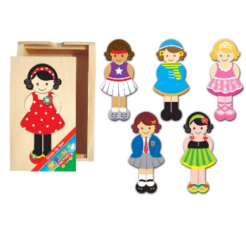 Wooden Dress Up Girl by Fun Factory