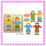 Wooden Dress Up Girl Puzzle