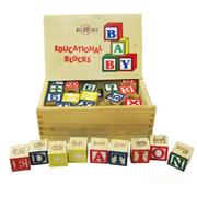 Wooden Educational Blocks by Fun Factory Toys