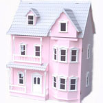 Traditional Wooden Pink Victorian Doll House