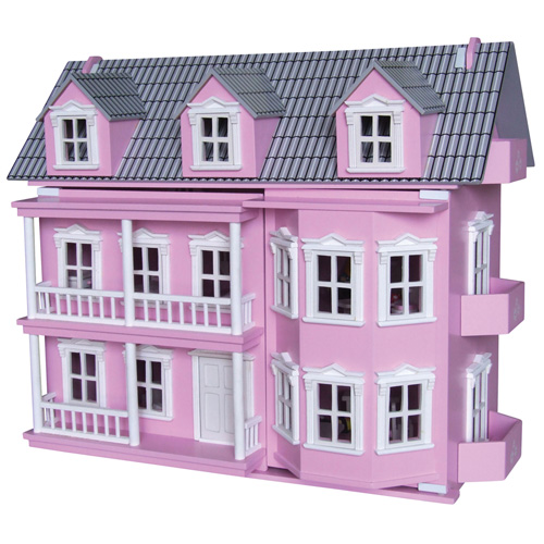 Wooden Pink Victoria Doll House by Timbertop Toys