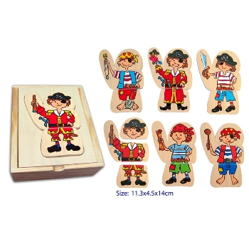 Wooden Dress Up Pirate by Fun Factory
