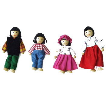 Doll Sets in wood,porcelain,magnetic