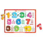 Wooden knob numbers puzzle