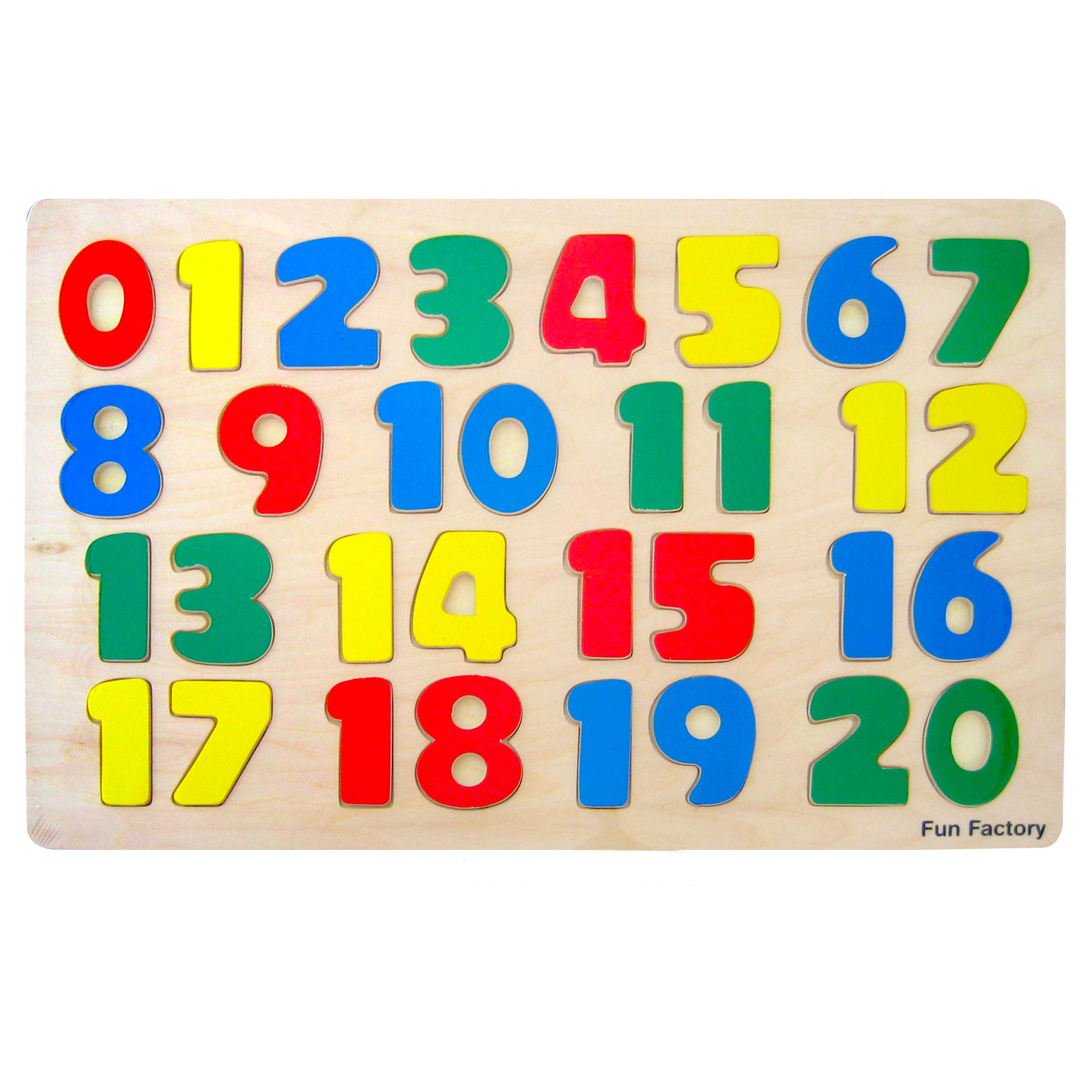 Wooden raised number puzzle 3+ by Fun Factory Toys
